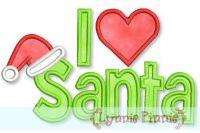 I Love Santa Applique & Fill 4x4 5x7