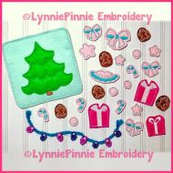 In the Hoop Christmas Tree with Decorations Play Set 4x4 5x7 6x10 7x11