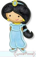 Cutie Princess as Jasmine Applique 4x4 5x7 6x10