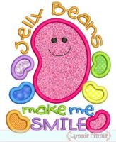 Jelly Beans Make Me Smile Applique 4x4 5x7 6x10