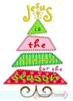 Jesus is the Reason for the Season Christmas Tree - Satin and Deco - 4x4 5x7 6x10