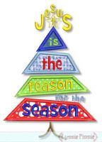 Jesus is the Reason for the Season Christmas Tree 4x4 5x7 6x10