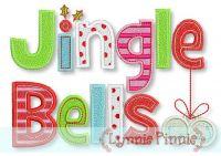 Jingle Bells Applique & Fill 5x7