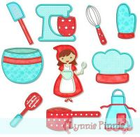 Kitchen Cutie Applique Set 4x4 5x7