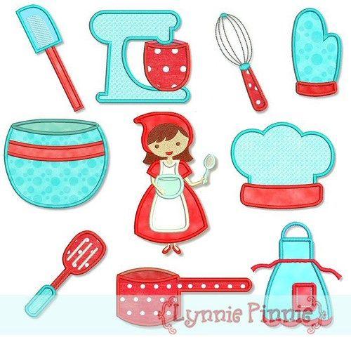 Kitchen Cutie Applique Set 4x4 5x7 Welcome To Lynnie Pinnie