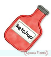 Ketchup Bottle Applique 4x4 5x7