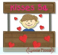 Kissing Booth Boy Applique 4x4 5x7