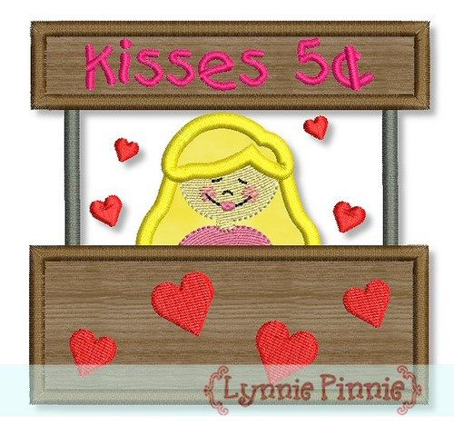 Kissing Booth Girl Applique 4x4 5x7