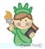 Little Lady Liberty Applique 4x4 5x7 6x10