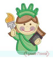 Little Lady Liberty Applique 4x4 5x7 6x10