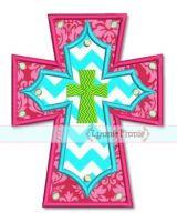 Layered Cross Applique 4x4 5x7 6x10 7x11 SVG