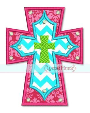 Layered Cross Applique 4x4 5x7 6x10 7x11 SVG