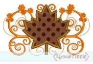 Fall Flourish Leaf Applique 4x4 5x7 6x10 SVG