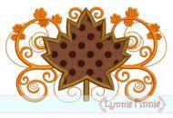 Fall Flourish Leaf Applique 4x4 5x7 6x10 SVG