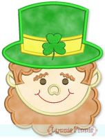 Leprechaun Face Applique 4x4 5x7 6x10