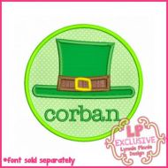 Leprechaun Hat Circle Applique 4x4 5x7 6x10 7x11 SVG