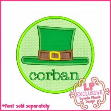 Leprechaun Hat Circle Applique 4x4 5x7 6x10 7x11 SVG