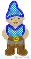 Little Gnome Boy Applique 4x4 5x7 6x10