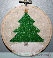 Tree with Star Applique for Little Hoops 4x4 5x7