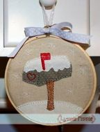 Winter Mailbox Applique for Little Hoops 4x4 5x7