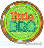 Little Bro Double Circle Applique 4x4 5x7 6x10