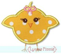Baby Chick Girl Applique 4x4 5x7 6x10