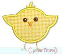 Little Chick Applique 4x4 5x7 6x10