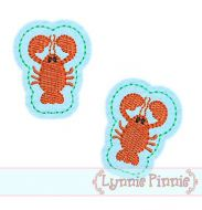 Lobster Felt Clippies Design 4x4