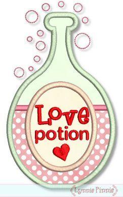 Love Potion Applique 4x4 5x7 6x10