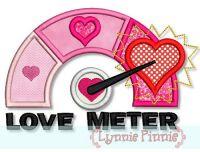 Love Meter Applique 4x4 5x7