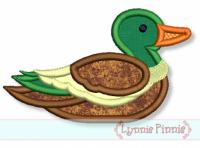 Mallard Duck Applique 4x4 5x7