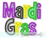 Mardi Gras Applique & Fill 4x4 5x7