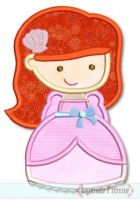 Mermaid Princess Cutie Applique 4x4 5x7 6x10 SVG