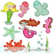 Applique Mystical Mermaids Set 4x4 & 5x7