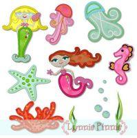Applique Mystical Mermaids Set 4x4 & 5x7