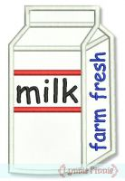 Milk Carton Applique 4x4 5x7