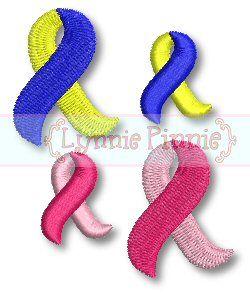Two Color Mini Awareness Ribbon 4x4