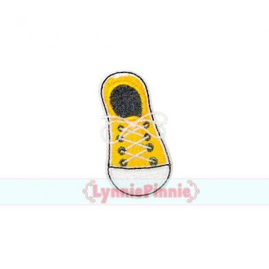 Mini Filled Sneaker Embroidery Design 4x4
