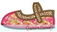 Mary Jane Shoe Applique 4x4 5x7
