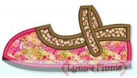 Mary Jane Shoe Applique 4x4 5x7