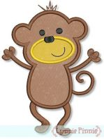 Dancing Monkey Applique 4x4 5x7
