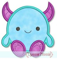 Cute Monster (3) Applique 4x4 5x7