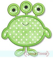 Cute Monster (4) Applique 4x4 5x7