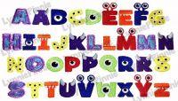 Little Monster Alphabet Embroidery Font - 3 sizes