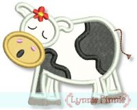 Moo-ing Cow Applique 4x4 5x7
