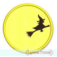 FREE Flying Witch Moon Applique 4x4 5x7 6x10