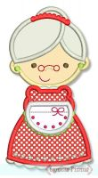 Mrs. Claus Applique 4x4 5x7 6x10