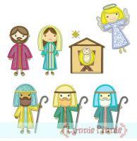 Nativity Applique Design Set 4x4 5x7 6x10