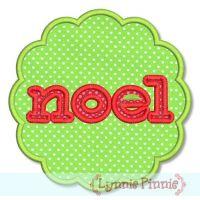 NOEL with Frame Zig Zag & Satin 4x4 5x7 6x10