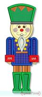 Nutcracker Applique 4x4 5x7 6x10